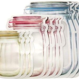 10 pc reusable ziplock storage jar bags *New*